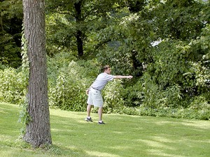 sp FORKED RUN FRISBEE GOLF